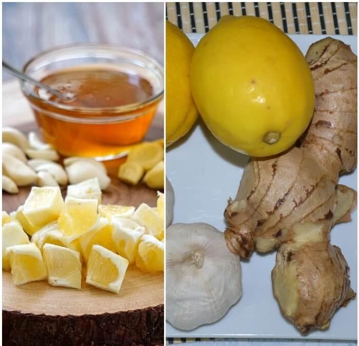 Prendre de l'ail frais au citron